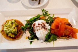 Trio of corn fritters